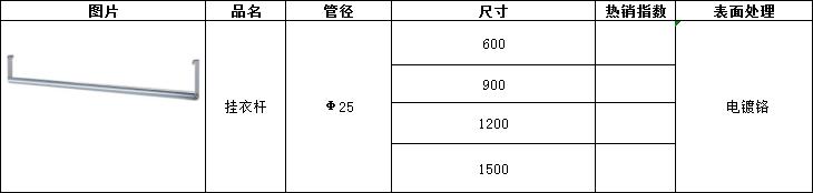 挂衣杆尺寸-川井