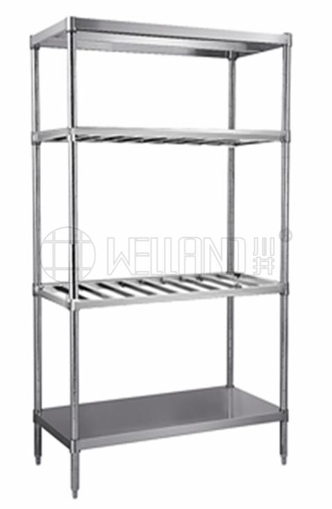 川井牌新款四层不锈钢置物架(不锈钢方管+板金组合架)分享-川井