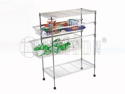 热销新款四层家用拉篮厨房置物架分享