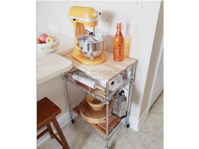 家用送餐小推车家用可移动小餐车厨房用收纳周转餐车