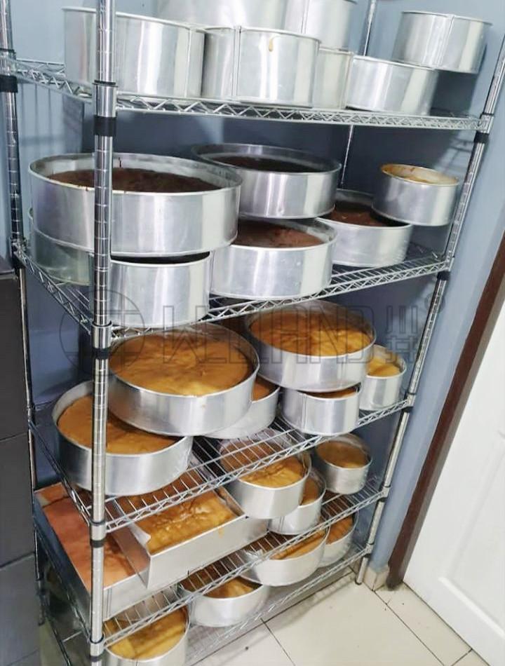 NSF认证环保安全储放面包货架食品级烘焙货架-川井