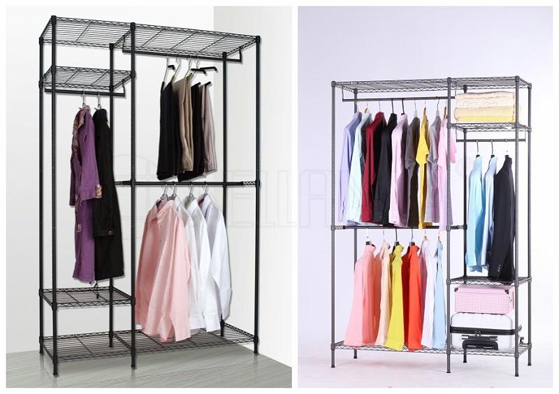 大容量简易线网衣橱金属布衣柜-川井