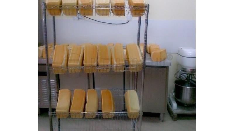面包店食品店烘培坊餐饮店无菌食品货架方案