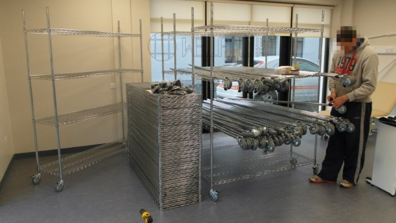 工业工厂制造镀铬货架 工程项目成功 案例分享