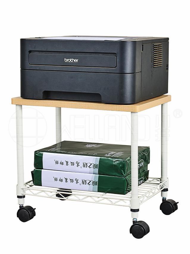 双层迷你可移动打印机传真机架