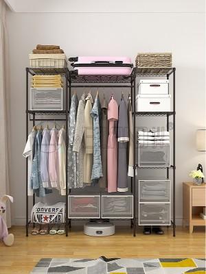 实用牛津布简约碳钢金属衣柜布衣橱
