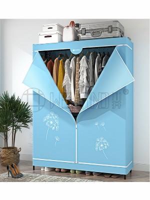 大容量组合简易布衣柜圆管可调节衣橱衣架