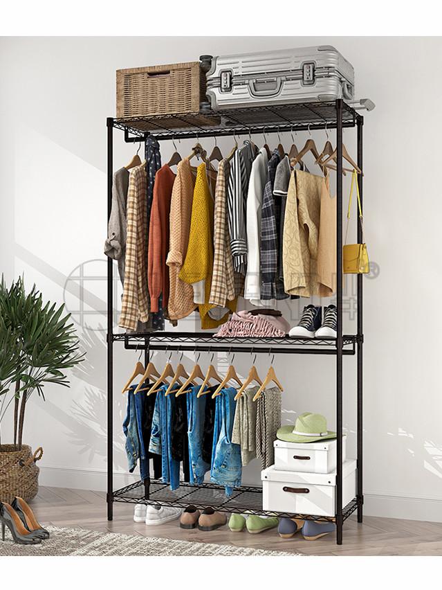 简易碳钢双人布艺衣柜 钢制大衣橱定制批发-川井