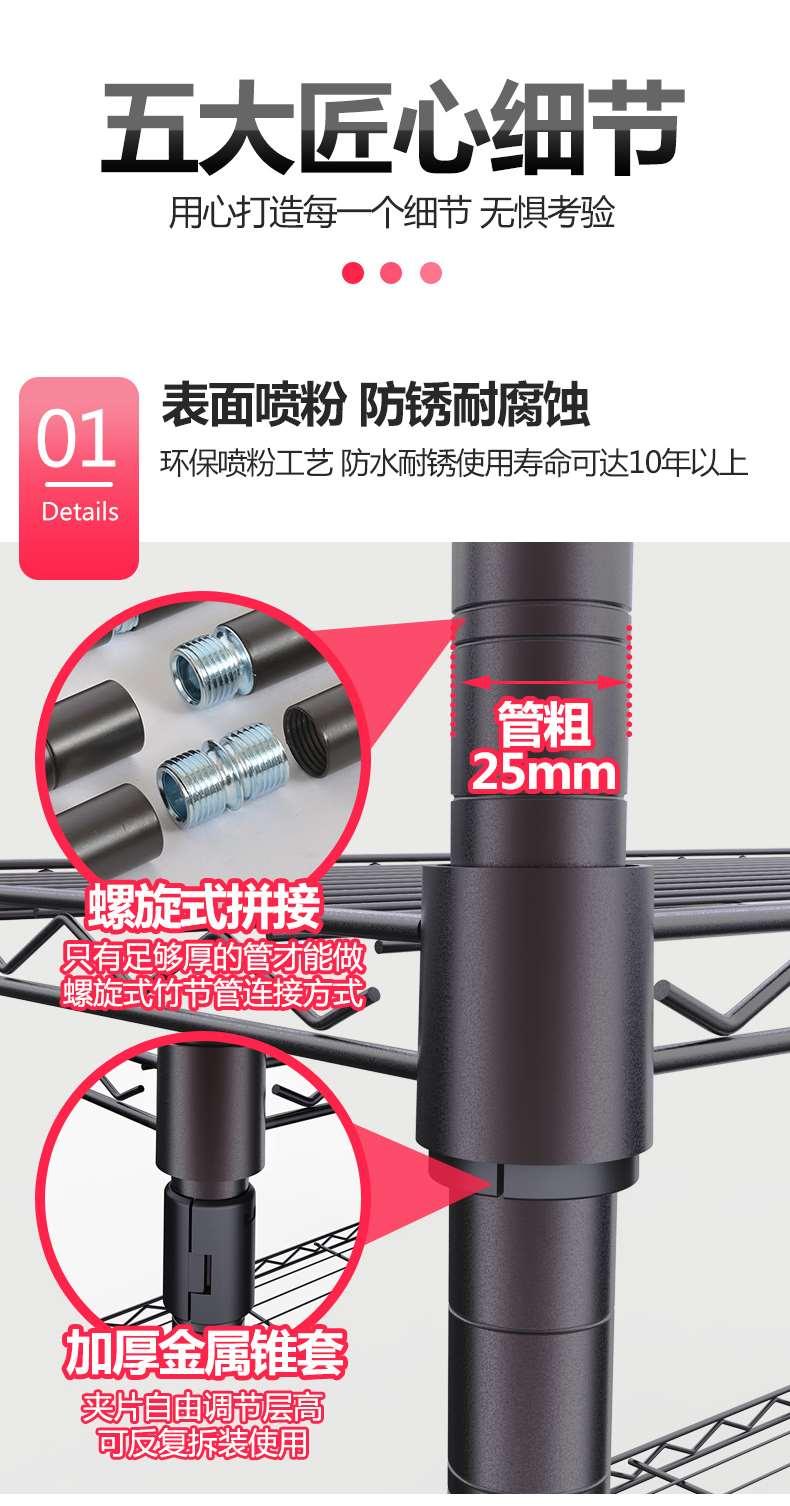 大容量组合简易布衣柜圆管可调节衣橱衣架-川井 (8)
