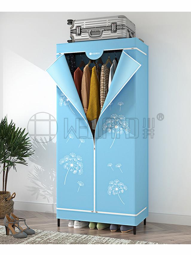 新款学生宿舍圆管布衣橱 高档组合衣柜 家用挂衣架-川井 (2)