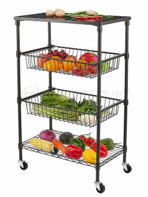 厨房蔬菜水果拉篮收纳架