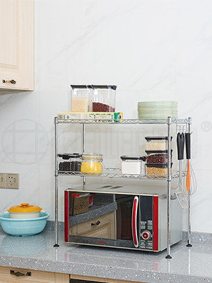 厨房微波炉烤箱台面置物架