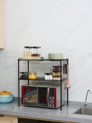 厨房微波炉收纳台面置物架