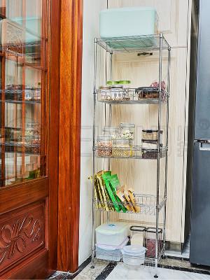 厨房金属多层网篮置物架