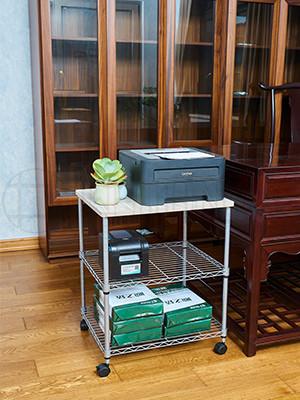 办公室书房打印机传真机架可移动文件架