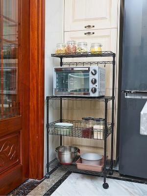 家用厨房微波炉烤箱落地置物架