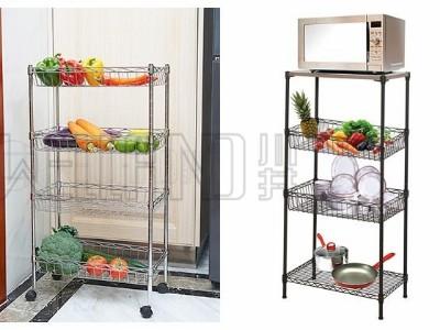 厨房蔬菜水果餐具锅盆调味料收纳架