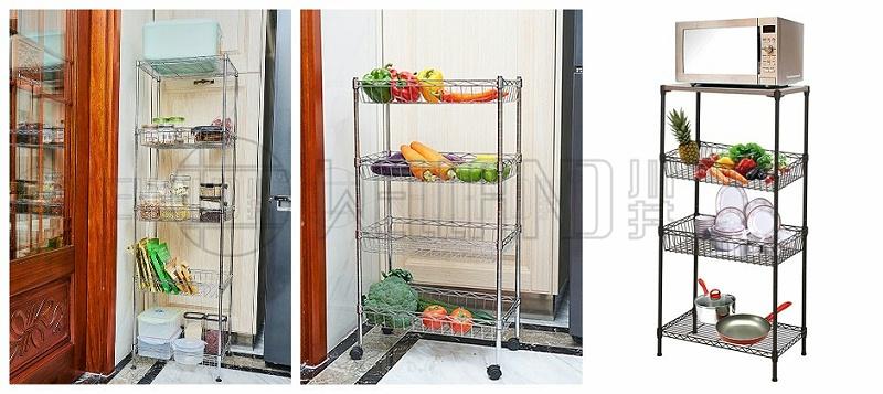 厨房蔬菜水果餐具锅盆调味料收纳架-川井