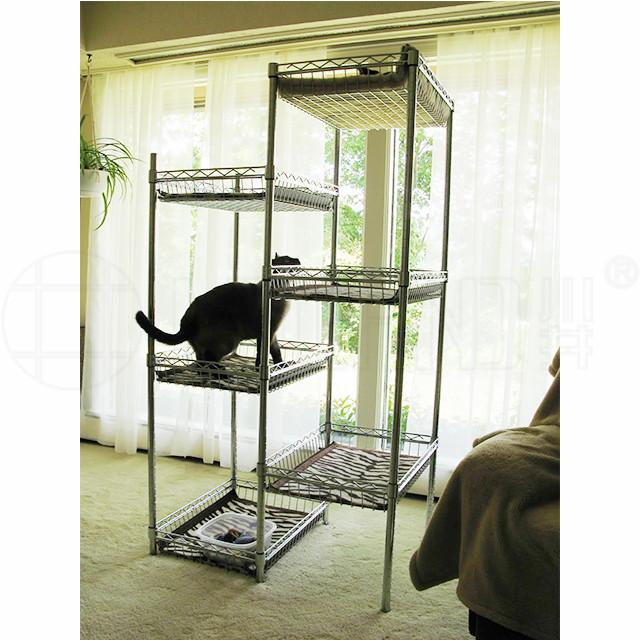 自制猫猫爬架猫窝猫树宠物笼子猫笼猫别墅自由空间-川井