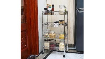 用了这款厨房置物架,厨房大了1倍都不止!