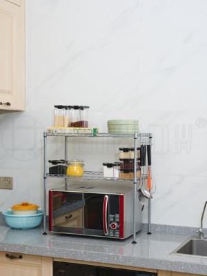 厨房微波炉收纳台面置物架-川井