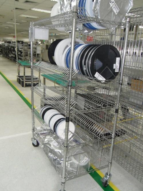 工厂防静电SMT物料镀铬架