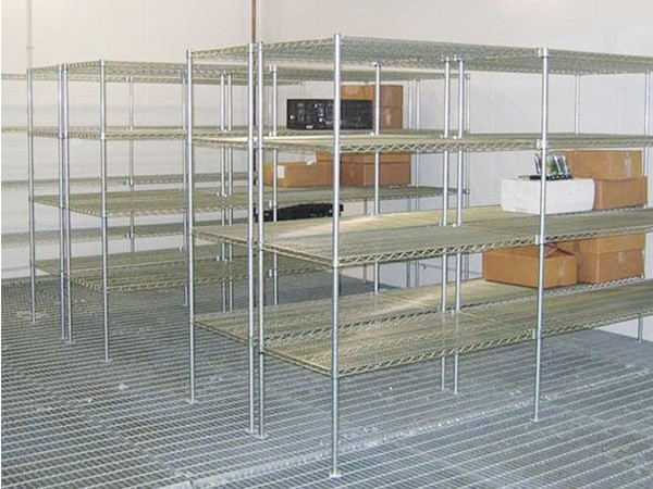 304不锈钢冷库食品仓储线网货架