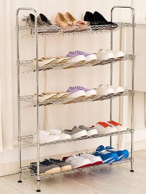 可拆装五层碳钢鞋子置物架