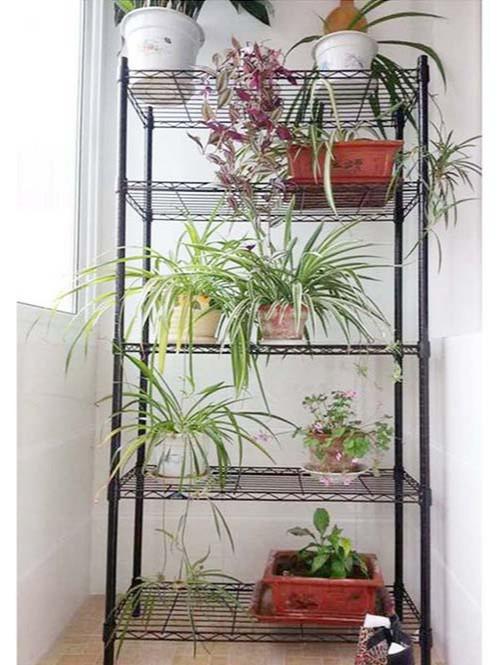 阳台窗台植物种植花草线网置物架-川井