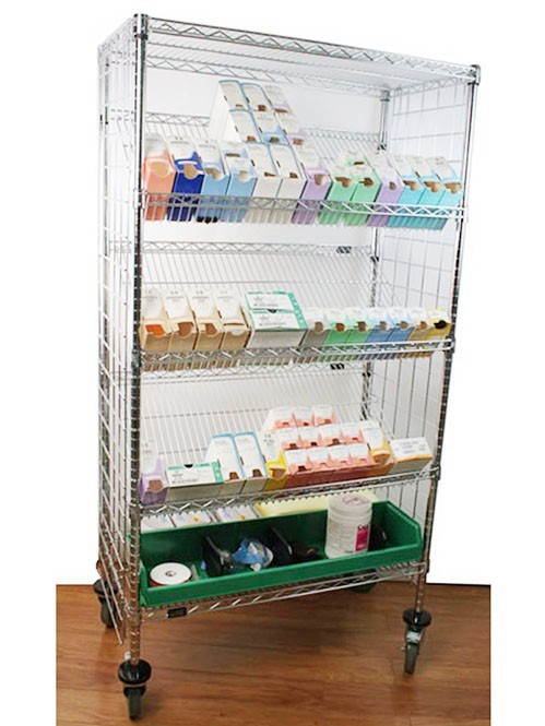 可移动药店药品陈列展示线网货架