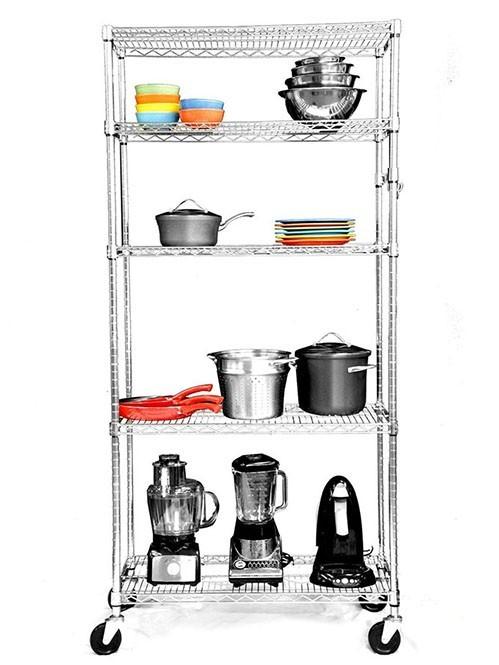 NSF重型可移动餐厨货架