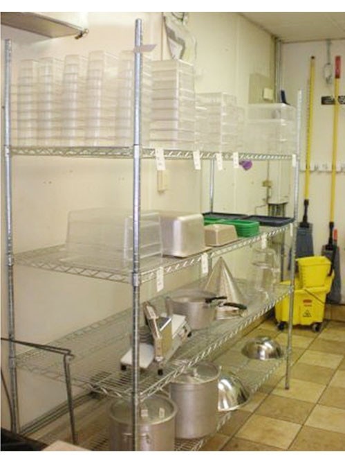 酒店厨房食品器具电镀铬收纳货架