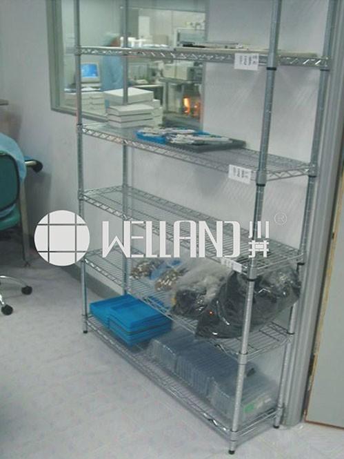 生物工程库房实验室电镀铬线网货架