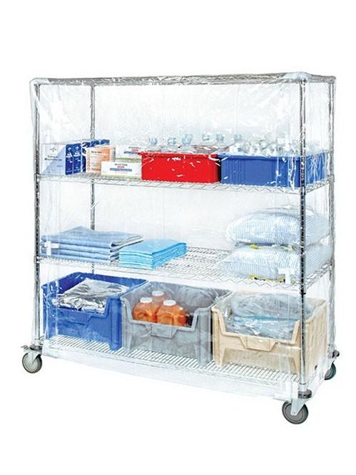 带轮PVC透明外罩医用药品洁净线网货架