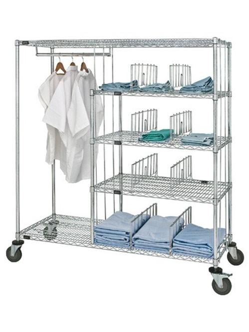 多功能可移动医疗医生工作服收纳挂衣架
