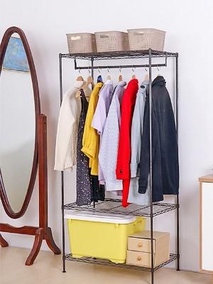 简易组合金属碳钢衣橱