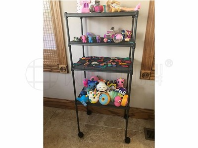 玩具收纳层架多功能多层玩具储物架金属杂物收纳层架