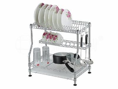 金属厨房架子沥水架厨房置物架碗碟架不锈钢厨房架子