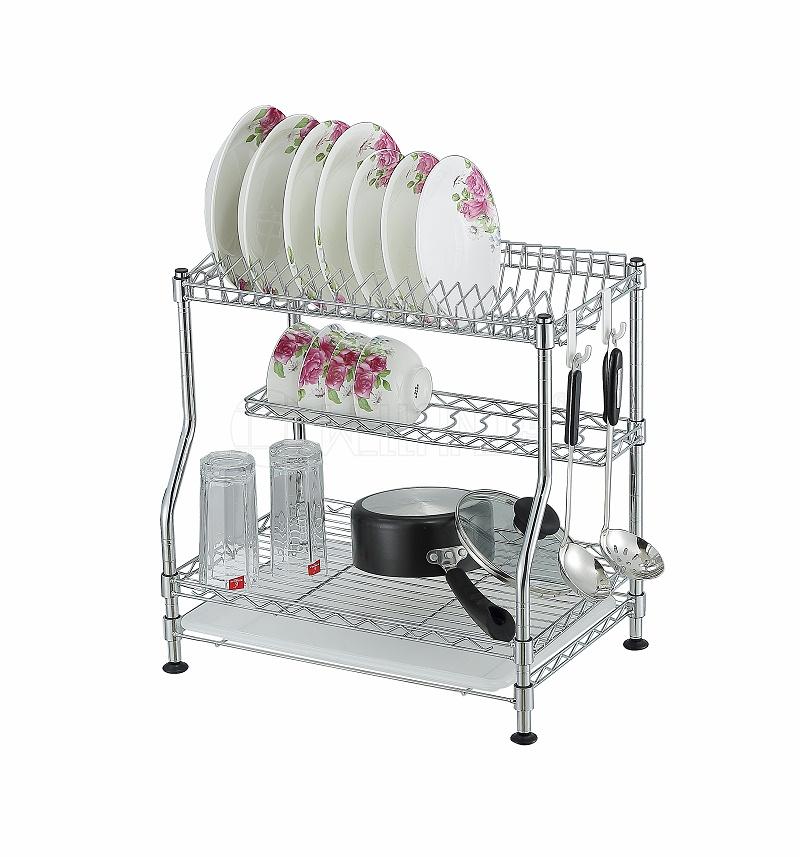 金属厨房架子沥水架厨房置物架碗碟架不锈钢厨房架子CJ-C1136-川井