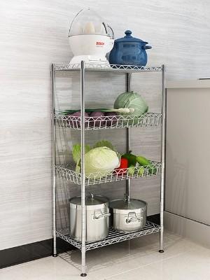 厨房置物架镀铬不锈钢色线网收纳架-川井WELLAND (2)