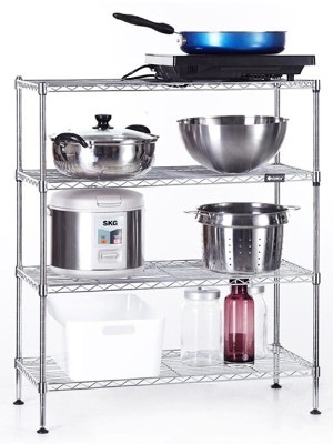 厨房置物架镀铬不锈钢色线网收纳架-川井WELLAND (1)
