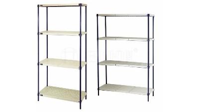 新款四层商用钢塑层架分享