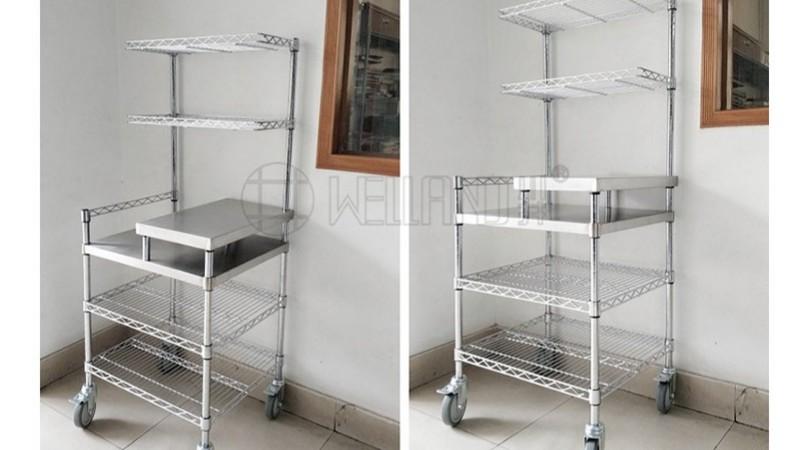 中山工厂 新研发商用厨房不锈钢推车 分享