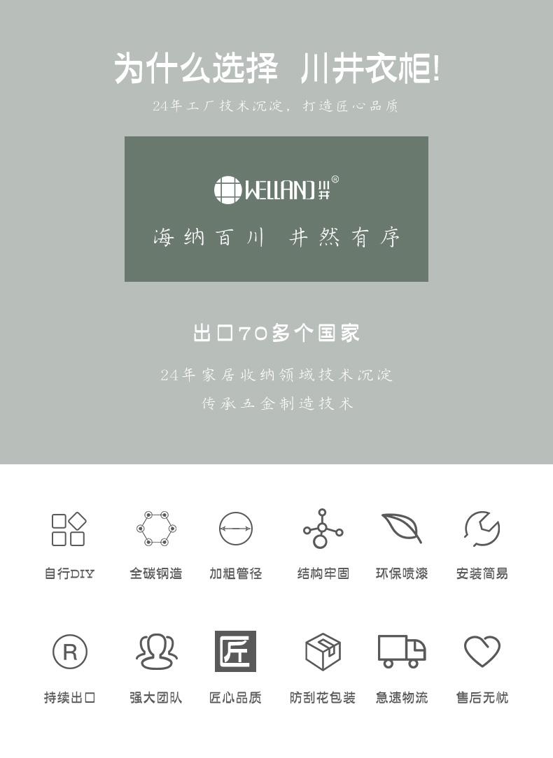 金属碳钢线网简易衣橱架布衣柜-川井 (1)