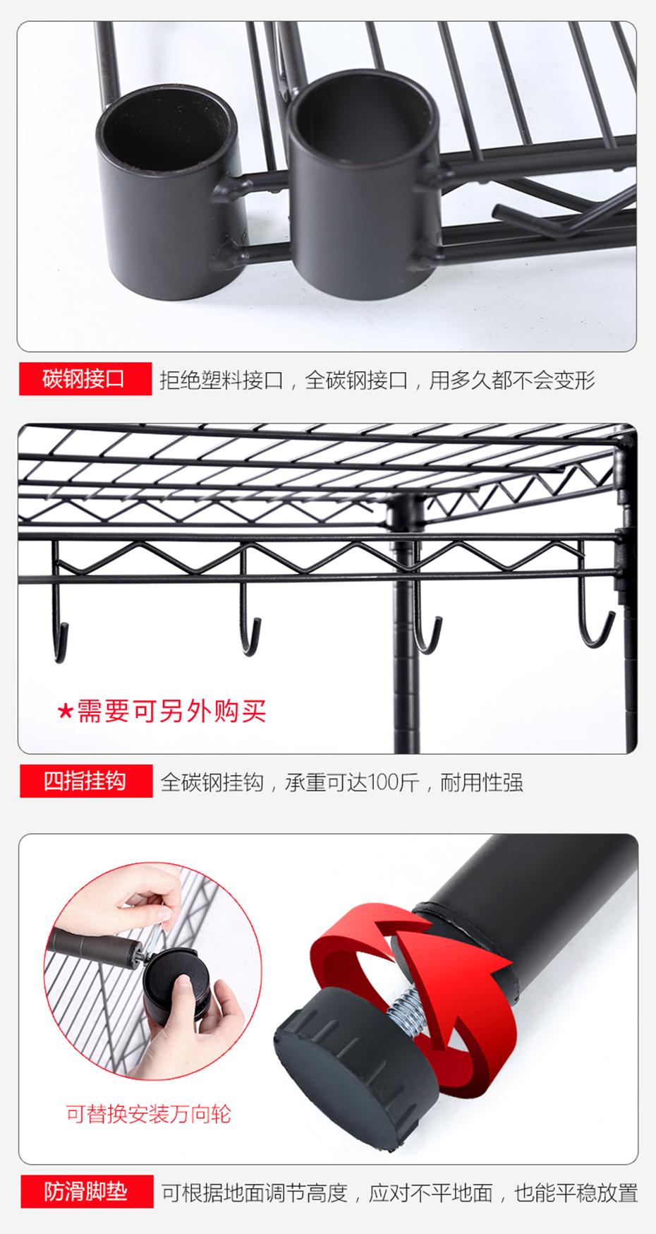 简约现代黑色烤漆碳钢衣橱架挂衣架带布罩金属衣柜-川井 (3)