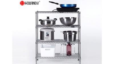 厨房多层可调节置物架安装