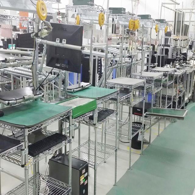 为什么工厂车间生产都选择防静电镀铬货架?线网置物架制造工厂-川井WELLAND