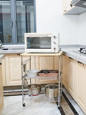 厨房多层可移动金属抽屉小推车