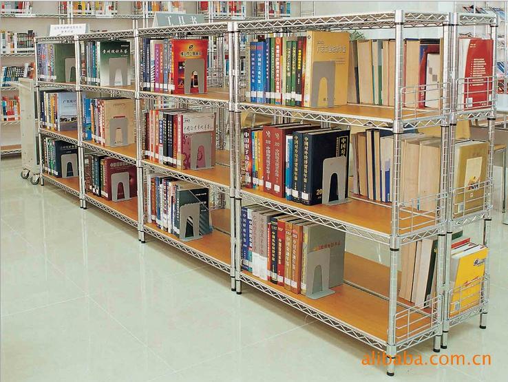 图书馆货架可移动单排货架书展架子-川井