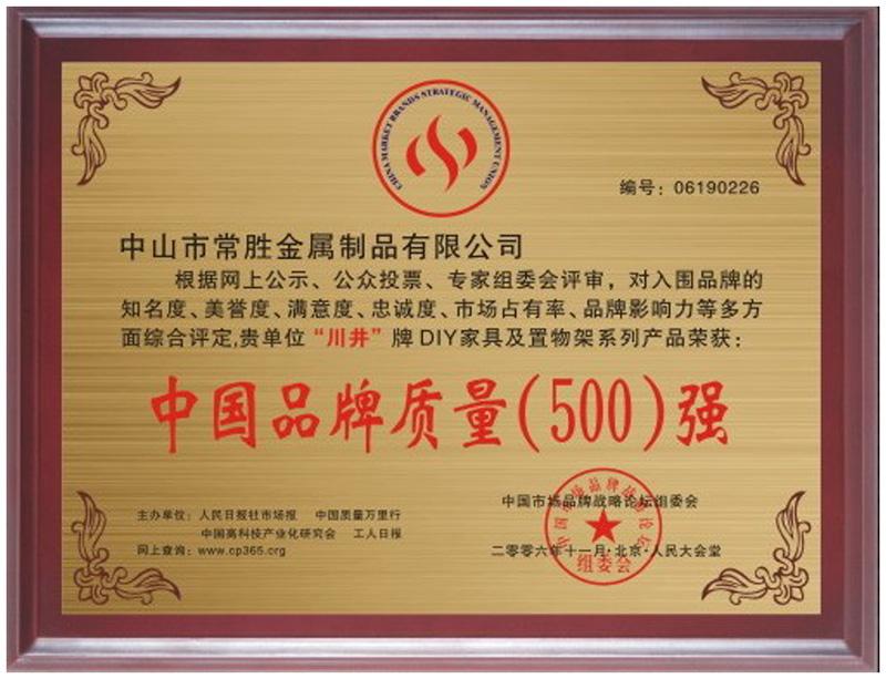 中国品牌质量(500)强